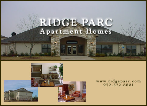 Send Someone an E-mail Postcard of Ridge Parc Apartments in South Dallas TX